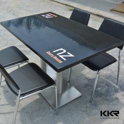 [كّر] عالة صلبة سطحيّة مطعم طاولة مع يطبع علامة تجاريّة