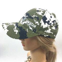 Europäische und amerikanische Form-Mann-und Frauen-Stickerei-förderndes Baseball-Hütesun-Hut-Tarnung-Muster gestickte Sport-Schutzkappen der Soem-Zoll-Baumwolle100%