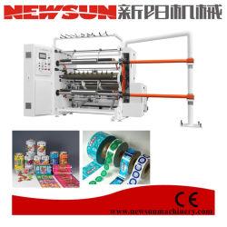 Automatique du papier adhésif, Bopp, RPC, PET, PE Refendage coupeuse en long de la machine
