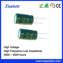 5000 Stunden 330UF35V Niederspannungs-Kondensator-hohe filternkapazitäts-