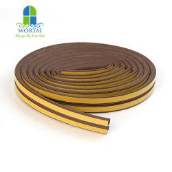 D forma Marco de la puerta de madera tira de la junta de espuma de caucho EPDM