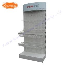 Einzelhandelsgeschäft-MetallPegboard Panel-Befestigungsteil-Bildschirmanzeige-Hilfsmittel-Geräten-Regal-Standplatz