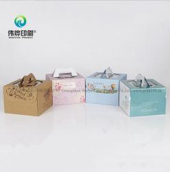 색깔 케이크 포장 상자를 인쇄하는 주문을 받아서 만들어진 골판지