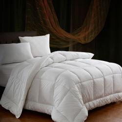 Роскошный 100 полиэфирная ткань из микроволокна отбеливатель белые пуховые одеяла постельное белье