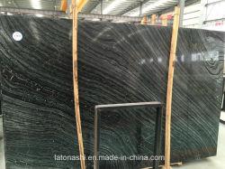Lastre di legno del marmo del grano con le vene nere per la parete/pavimentazione
