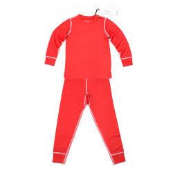 양 실행 겨울 동안 메리노 양모 모직 아이들의 빨간 열 내복