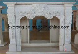 Beige/blanc/noir/brun/gris marbre/grès et calcaire cheminée Mantel pour décoration intérieure