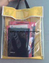 Arquivo de PVC transparente diversos documentos Storge Bag Bolsa de livro