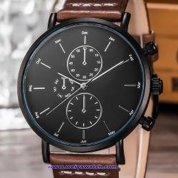 Uhr-Kristall-Schweizer Handgelenk der kundenspezifischen Firmenzeichen-Quarz-Männer für Mann (WY-17013B)
