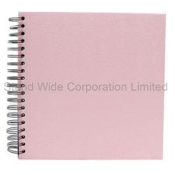 Trozo de papel artesanal blanco espiral Libro Álbum, Caja de regalo 2018
