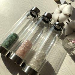 Borosilicat-Glas-Kristallelixier-Flaschen-Edelstein-Wasser-Flasche des hohen Grad-2020 für die Herstellung von Kristall hineingegossenem Gemwater