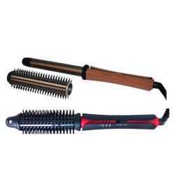 يدور [بوور كبل] [هير برودوكت] [هتينغ لمنت] كهربائيّة 3 شعر [ستلر] أداة شعية يجعّد عصا مع مشبك, مشط