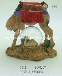 Polyresin Camel com bola de neve loja de presentes
