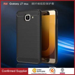 حقيبة هاتف محمول من ألياف الكربون اللينة من البولي يورثان المتلدن بالحرارة (TPU) لـ Samsung Galaxy J2 / J5 / J7 / J7 Prime