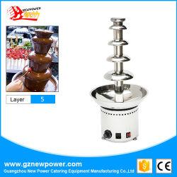 De commerciële Elektrische Fontein van de Chocolade van Vijf Laag met de Prijzen van de Fabriek
