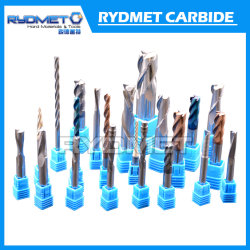 Las flautas de carburo de tungsteno Sólido 2 molinos de extremo corte de metales
