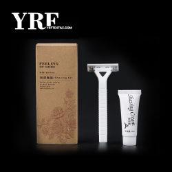 Yrf comodidades del hotel oferta hotelera de dos hojas Kit de navajas de afeitar