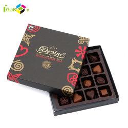 La seguridad alimentaria frustrado de bronce de la barra de chocolate de Embalaje caja de bombones personalizada cobre frustrado de embalaje de cajas de chocolate
