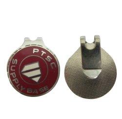 Logo de haute qualité d'alimentation de base de l'Estampage jetable personnalisé Die Casting Serise Accessoires de golf en laiton Hat Clip avec le fabricant OEM pour Glitter encoche de la fourche de golf de l'outil (018)