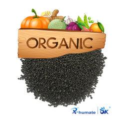 Haut de l'azote 45 % de granules granulaire acide humique d'urée à bille noir