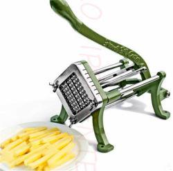 Manueller Gemüsezwiebelen-Kartoffelchip-Pommes- Friteswürfel-Tomate-Scherblock