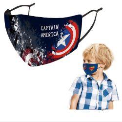 Logotipo personalizado a los niños de dibujos animados para bebés de tela reutilizables cubierta de cara a los niños de la máscara de polvo de fiesta Halloween Navidad