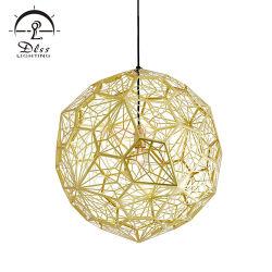 Réplique en acier inoxydable Décoratifs Modernes lampe ballon rond Hall