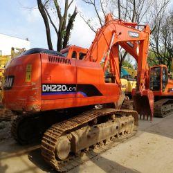 machinerie de construction utilisé Doosan DH220LC-7 20 tonnes d'heures d'excavatrice basse