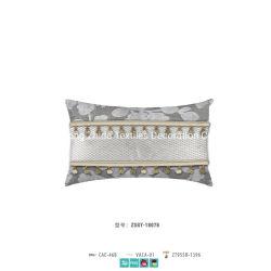 ホーム織物ポリエステル綿の麻布の切口のビロードによって装飾されるソファのクッション