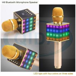 Karaoke Player Mini Micrófono de condensador inalámbrico con micrófono altavoz canto KTV Registro para los teléfonos, equipo de karaoke para teléfono