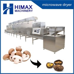 Continua Industrial microondas setas Shiitake Máquina de secado de pelo