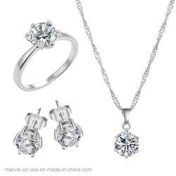 925の純銀製のネックレス及びイヤリングのリングの方法宝石類セット