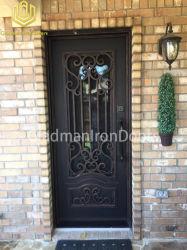 خارجيّ مدخل حديد أمن فولاذ معدن باب مع قابل للتشغيل يليّن زجاج