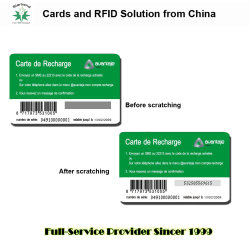 Pinコードの薄いPaper/PVCの電気通信のカードはパネルをスクラッチし、