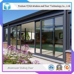 Lamellenförmig angeordnete ausgeglichenes Glas-Sicherheits-Aluminiumschiebetür für Landhaus