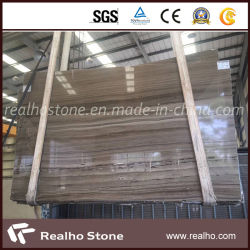 Bianco/Grey/marmo di legno vena del Brown Obama per le lastre/parete/pavimentazione/taglio della traversa parti superiori di vanità