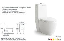 Une seule pièce en céramique Siphonic WC Salle de bain WC Pan