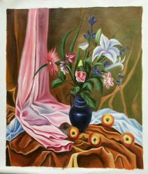 Del fiore pittura a olio classica Handmade di vita ancora per la decorazione domestica