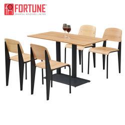 سعر جيد، مطعم مخصص مصنوع من الخشب الرقائقي الملون، طاولة ومقعد للبيع
