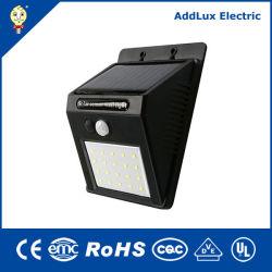 garten-Flut-Lampen des 6W Saso Cer UL-reine weiße Karosserien-Fühler-Schwarz-LED Solarhergestellt in China für im Freien, Straße, Park, Dringlichkeit, Außenbeleuchtung vom besten Verteiler