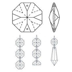 Araña de cristal accesorios, araña de cristal prismas, araña de cristal colgantes