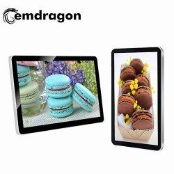 Toque em Jogador de anúncios publicitários na parede de 21,5 polegadas sensível ao toque da tela LED de publicidade exterior quiosque preços de Visor Digital Signage LCD