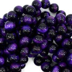 すべてのサイズを使用できるようにする方法宝石類の宝石類のための自然な紫色の虎眼石の石のビード