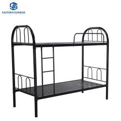 기숙사 강철 이층 침대 프레임 강철 금속 더블 침대