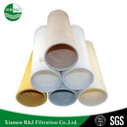 Colector de polvo de Aire Industrial Medios de Comunicación de la bolsa de filtro, filtro de mangas