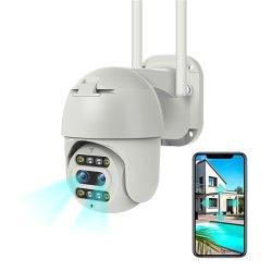 Face Recognition Humanoid отслеживание Полноцветный ночного видения с двумя объективами камеры CCTV с голосовой сигнал вызова