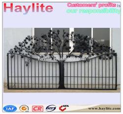 تصميم البوابة الحديدية المشغول OEM 16 قدمًا مكونات جدار الباب المتأرجح