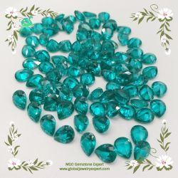 MGO Gem Synthetic BlueかGarnet/Olive/Coffee/Orange Color Spinel Gemstone Round Shape Rough