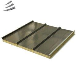 Isolation Laine de Roche/EPS ignifugé panneau sandwich mur/panneau de toiture pour l'atelier Building