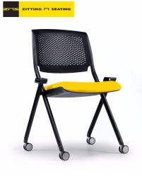 Tranning Fold Chair School University Education Furniture Home Cushion Office Library PP kunststof milieustof Mesh Power Coating White Black Frame
